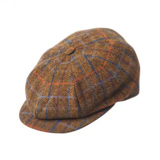 Cordings Mustard Tweed Cap Different Angle 1