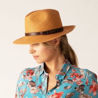 Cordings Tan Panama Ladies Hat Main Image