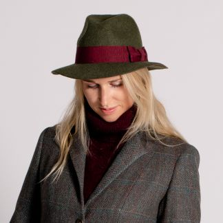 Cordings Green Olive Fedora  Different Angle 1