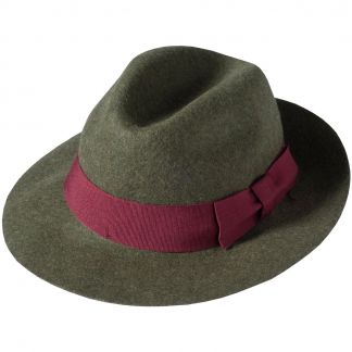 Cordings Green Olive Fedora  Main Image
