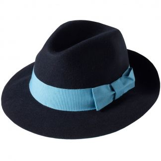 Cordings Navy Fedora Main Image