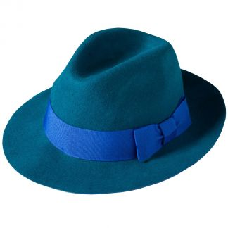 Cordings Teal Fedora Different Angle 1