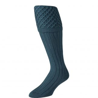 Cordings Green Merino Shooting Stocking Different Angle 1