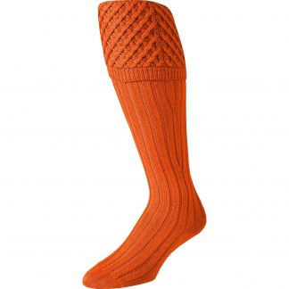 Cordings Orange Merino Shooting Stocking Different Angle 1