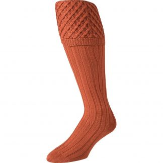 Cordings Rust Merino Shooting Stocking Different Angle 1