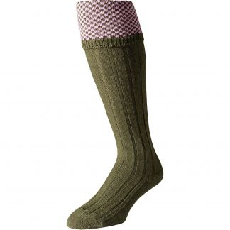 Cordings Olive Green Penrith Shooting Stocking Different Angle 1