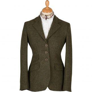 Cordings Dark Green T.ba Tweed Hacking Jacket Main Image