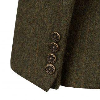 Cordings Dark Green T.ba Tweed Hacking Jacket Different Angle 1