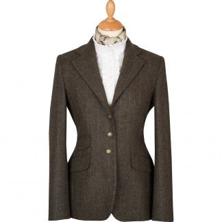 Cordings Sage Green T.ba Tweed Hacking Jacket Main Image