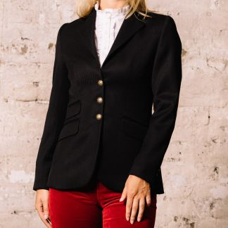 Cordings Black Velvet Collar Cavalry Twill T.ba Jacket Main Image