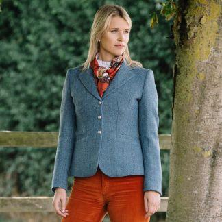 Cordings Blue Wantage Harris Tweed Chelsea Jacket Main Image