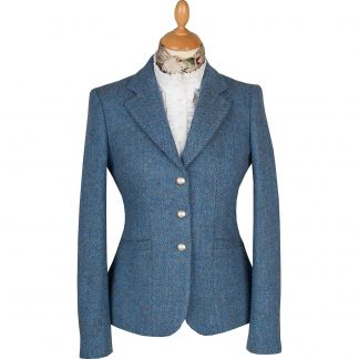 Cordings Blue Wantage Harris Tweed Chelsea Jacket Main Image