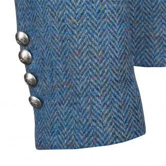 Cordings Blue Wantage Harris Tweed Chelsea Jacket Different Angle 1