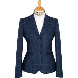Cordings Eton Navy Chelsea Tweed Jacket Main Image