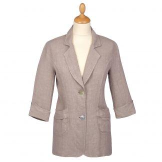 Cordings Taupe Linen Casual Blazer Main Image