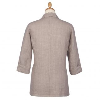Cordings Taupe Linen Casual Blazer Different Angle 1