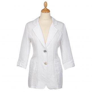 Cordings White Linen Casual Blazer Main Image