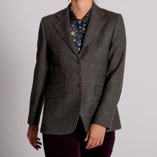 Cordings Blue T.ba Tweed Single Vent Jacket Main Image