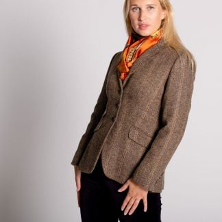 Cordings Brown and Red T.ba Tweed Single Vent Jacket Different Angle 1