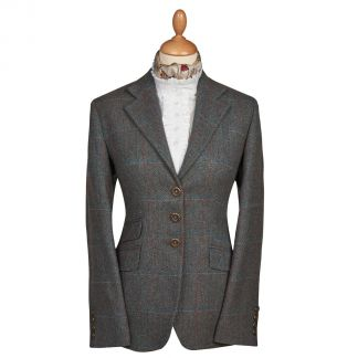 Cordings Blue T.ba Tweed Single Vent Jacket Main Image