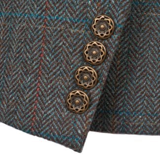 Cordings Blue T.ba Tweed Single Vent Jacket Different Angle 1