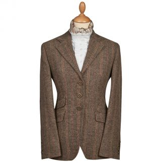 Cordings Brown and Red T.ba Tweed Single Vent Jacket Main Image