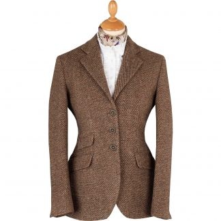 Cordings Brown T.ba Tweed Single Vent Jacket Main Image
