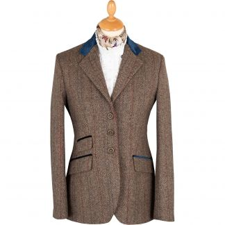 Cordings Velvet Trim T.ba Tweed Single Vent Jacket Main Image
