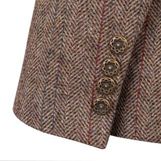Cordings Velvet Trim T.ba Tweed Single Vent Jacket Different Angle 1