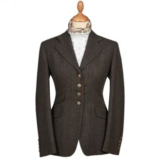 Cordings Brown T.ba Tweed Double Vent Jacket Main Image