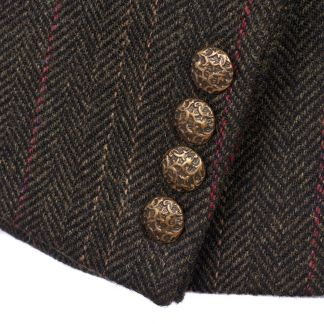 Cordings Brown T.ba Tweed Double Vent Jacket Different Angle 1