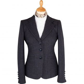 Cordings Blue Abbot Tweed Chelsea Jacket  Main Image
