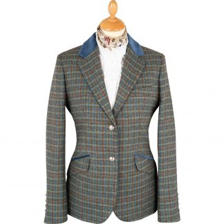 Cordings Blue Whitby Tweed Hacking Jacket  Main Image