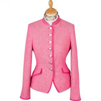Cordings Pink Linen Austrian Nehru Jacket Main Image