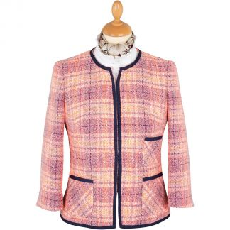 Cordings Pink Cropped Piped Jacket Main Image