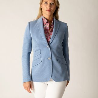 Cordings Blue Stretch Blazer Different Angle 1