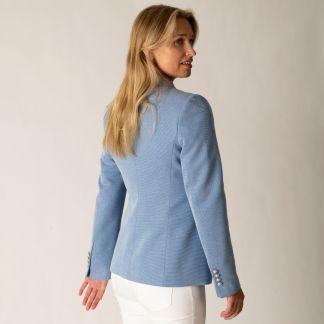 Cordings Blue Stretch Blazer Different Angle 1
