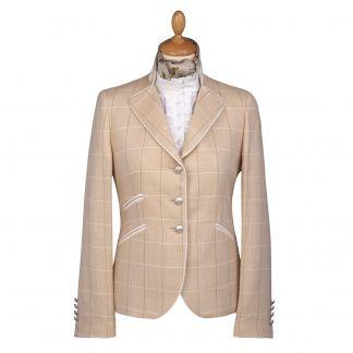 Cordings Cream Chiltern Check Nehru Jacket Main Image