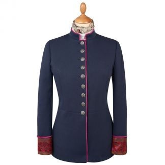 Cordings Navy Jacquard Military Jacket Main Image