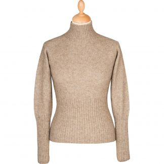 Cordings Taupe Possum Turtleneck Sweater Different Angle 1