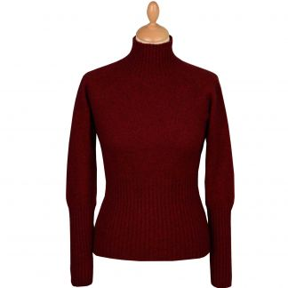 Cordings Wine Possum Turtleneck Sweater Different Angle 1