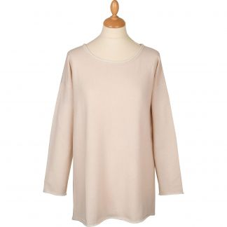 Cordings Cream Contrast Button Back Cashmere Jumper Main Image