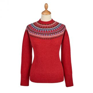 Cordings Red Retro Geelong Fairisle Jumper Main Image