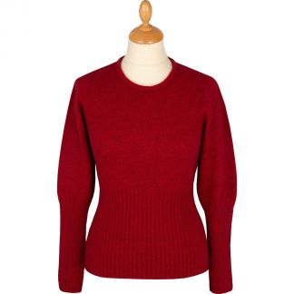 Cordings Red Possum Merino Crew Neck  Main Image