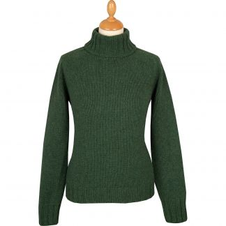 Cordings Olive Geelong Chunky Roll Neck Main Image