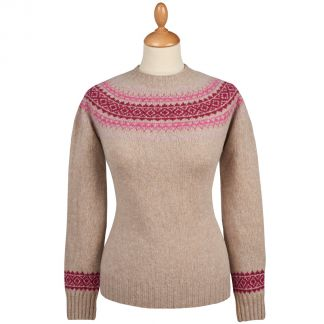 Cordings Ivory Graded Lambswool Fairisle Jumper Main Image