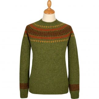 Cordings Green Graded Lambswool Fairisle Jumper Main Image