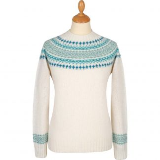 Cordings Cream Graded Lambswool Fairisle Jumper Main Image