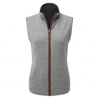 Cordings Ladies Schoffel Reversible Merino Cashmere Gilet  Different Angle 1