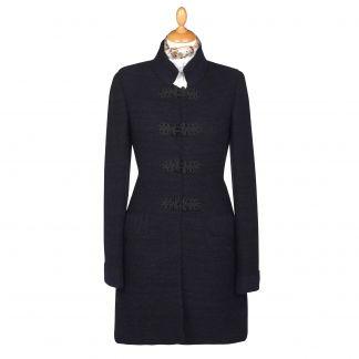 Cordings Black British Made Alpaca Cardigan Coat Main Image